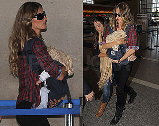 Photos of Gisele Bundchen With Son Benjamin Brady Leaving From LA
