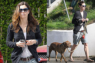 Photos of Jessica Biel Walking Her Dog Tina in LA