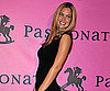 Slide Photo of Bar Refaeli Wearing a Black Dress in Paris