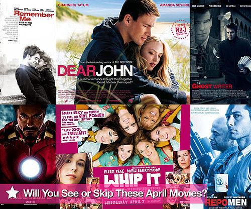 Movies Films Released in UK Cinemas in April 2010 Including Remember Me Starring Robert Pattinson