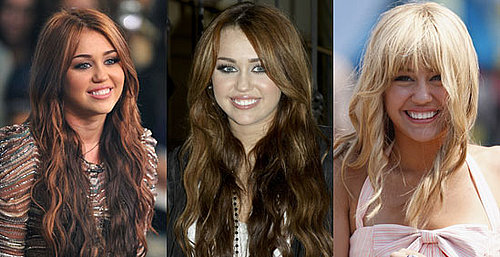 Photos of Miley Cyrus with Auburn Hair and Blonde Hair
