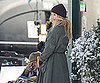 Slide Photo of Cameron Diaz Filming Bad Teacher in Snow in LA