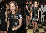 Photos of Emma Watson in a Black Leather and Lace Dress in New York 2010-03-28 19:30:07