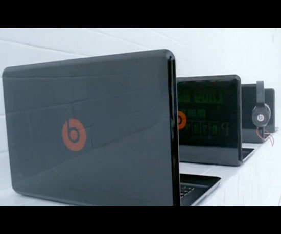 "Laptops and Headphones in ""Bad Romance"""