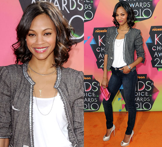 Zoe Saldana at 2010 Kids Choice Awards