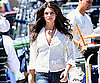 Slide Photo of Ashley Greene on Apparition Set in LA