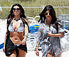 Slide Photo of Kim and Kourtney Kardashian in Bikinis