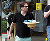 Slide Photo of David Duchovny Buying a Shirt and Hat in LA