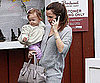 Slide Photo of Seraphina Affleck and Jennifer Garner at the Brentwood Country Mart in LA