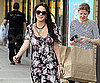 Slide Photo of Lindsay Lohan Wearing Floral Dress in LA