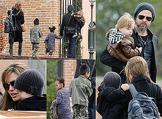 Photos of Brad Pitt and Angelina Jolie With Kids In Italy On Easter