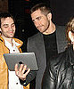 Jake Gyllenhaal With an iPad