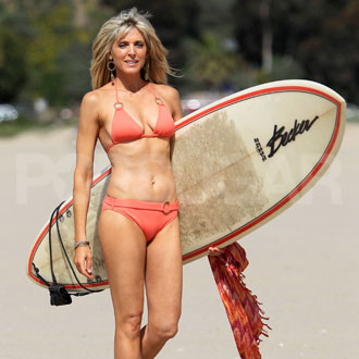 Guess Who's Posing in a Bikini With Her Surfboard?
