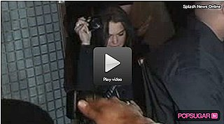 Video: Lindsay Stumbles Again Leaving Les Deux Last Night