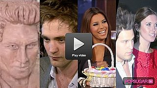 Video of Robert Pattinson Filming Bel Ami and His Head Carved in Chocolate