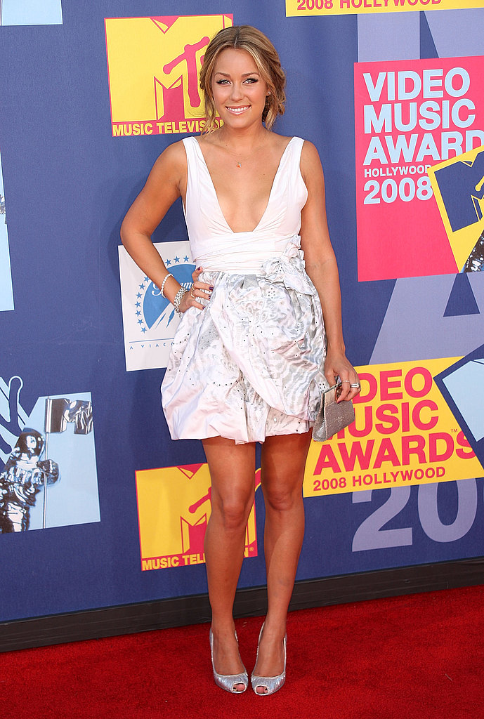 At the 2008 MTV VMAs in a Pogah dress.