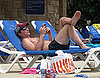 Photo of Peter Facinelli Shirtless at the Pool