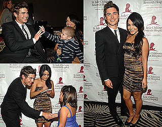 Photos of Zac Efron and Vanessa Hudgens at a St. Jude's Hospital Gala 2010-04-07 15:03:45