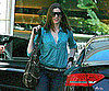 Slide Photo of Anne Hathaway Arriving For a Meeting in Beverly Hills