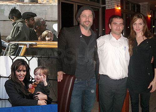 Pictures of Brad Pitt and Angelina Jolie on a Date in Bosnia, His Parents Arriving in Venice