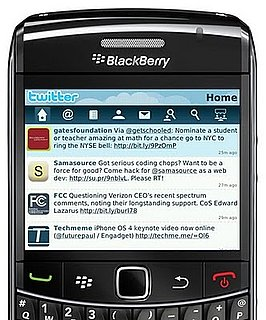 New BlackBerry Twitter App