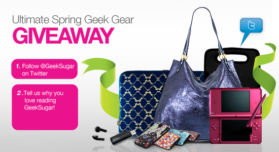 Photos of the Ultimate Spring Geek Gear Giveaway Products