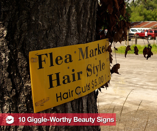 See 10 Silly Beauty Signs