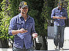 Pictures of Peter Facinelli Tweeting While Jennie Garth Talks on Her Cell Phone in LA