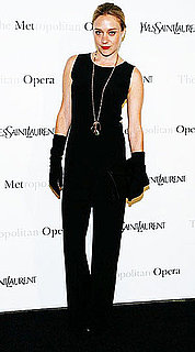 Chloe Sevigny Attends the Metropolitan Opera Gala Premiere of Armida in All Black Yves Saint Laurent and Gloves