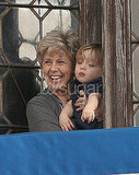 Pictures of Knox Jolie-Pitt and Brad's Mom in Venice