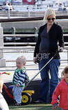Amy Poehler and Archie Arnett Play at the Park