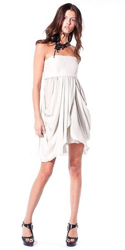 charlene strapless cocoon skirt dress | alice + olivia | $440.00