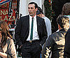 Slide Picture of Jon Hamm Filming Mad Men