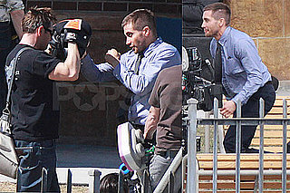 Pictures of Jake Gyllenhaal Filming Source Code in Vancouver