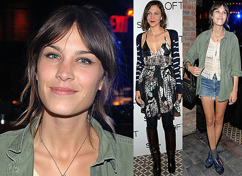 Photos of Alexa Chung Partying in New York Alongside Maggie Gyllenhaal