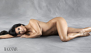 Picture of Kim Kardashian Naked in Harper's Bazaar