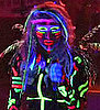 Glow in the Dark Makeup Like Kesha 2010-04-19 13:00:11