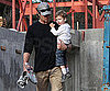 Slide Picture of Tom Brady and Son Jack at LA House