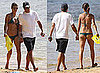 Pictures of George Clooney And Elisabetta Canalis Wearing a Bikini on The Beach in Hawaii