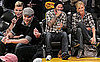 Pictures of David Beckham, Charlize Theron, Kellan Lutz, And AnnaLynne McCord at a Lakers Game