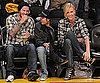 David Beckham and Charlize Theron Wear Plaid and Dark Denim at LA Lakers Game 2010-04-21 15:00:22