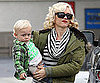Slide Photo of Gwen Stefani and Zuma at Lunch in LA