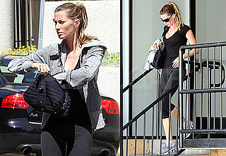 Pictures of Gisele Bundchen In Workout Clothes Leaving Gym