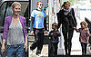 Pictures of Chris Martin Walking and Gwyneth Paltrow with Apple Martin in NYC