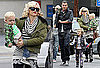 Pictures of Gwen Stefani And Gavin Rossdale Leaving Lunch in LA With Sons Kingston And Zuma