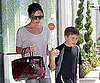 Slide Picture of Victoria Beckham With Brooklyn in LA