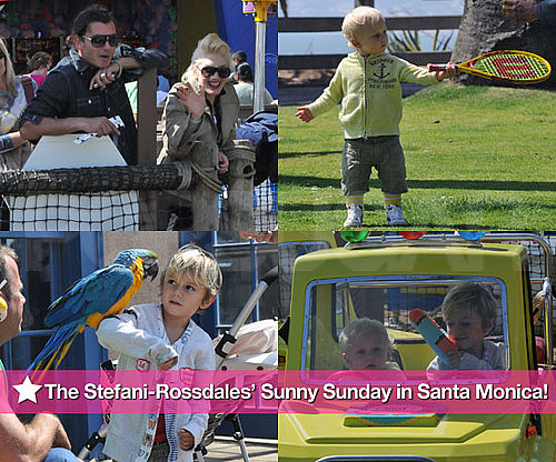 Photos de Gwen Stefani et Gavin Rossdale avec Kingston et Zuma a Santa Monica