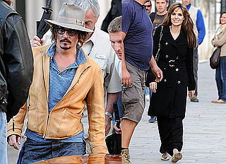 Pictures of Angelina Jolie and Johnny Depp Smiling in Venice