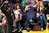 Pictures of Leonardo DiCaprio, Bar Refaeli, Seal, Henry Samuel, and Johan Samuel at the Lakers vs. Thunder Game 2010-04-28 10:25:00
