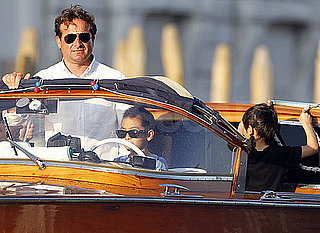 Pictures of Maddox And Pax Jolie-Pitt Driving a Water Taxi in Venice